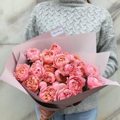 """Пионовидная роза """"Juliet"""" 9 штук"""