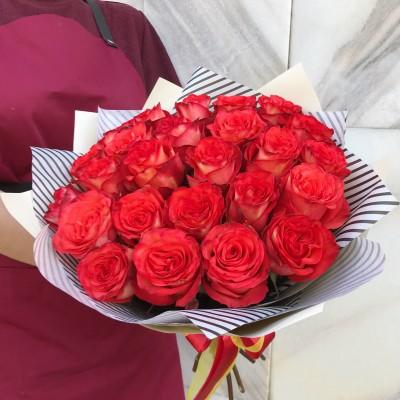 Роза Хай-Оранж 25 штук