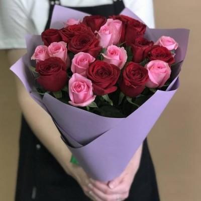 21красно-розовая роза