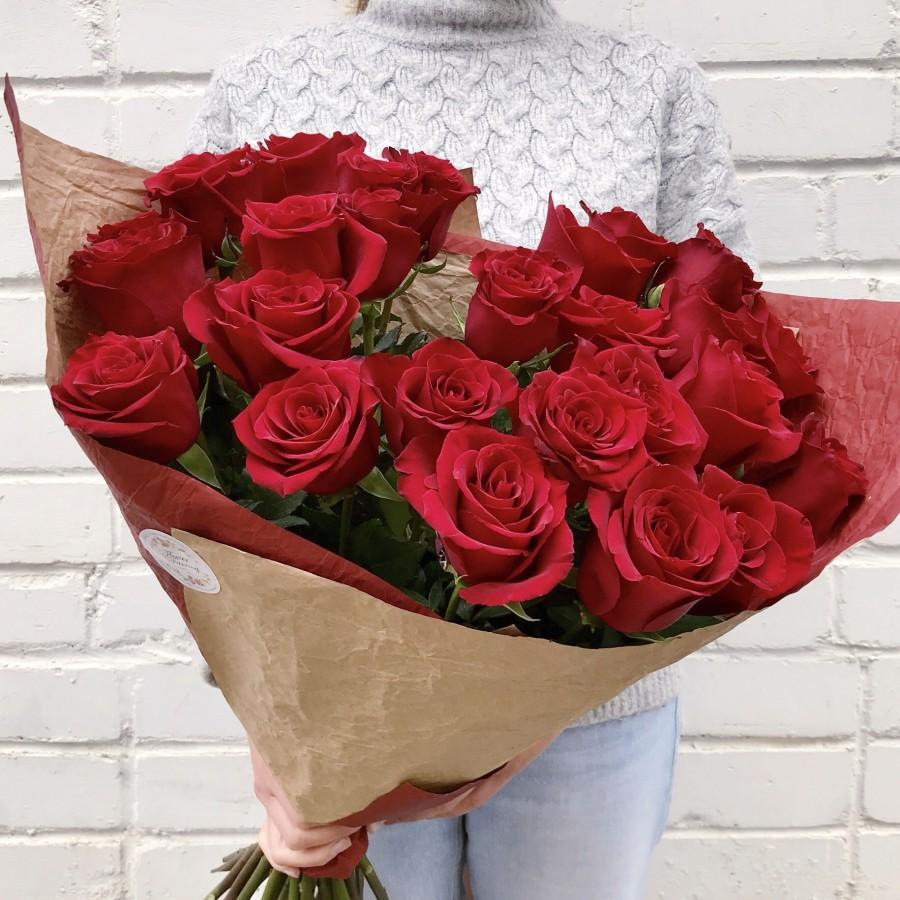 Красная роза 25 штук
