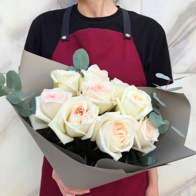 Букет из ароматных роз О'хара